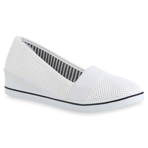 Damen Slippers Keilslippers - Weiß