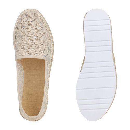 Espadrilles Damen Slippers Espadrilles Damen Slippers Creme PnqR8wd4Rx