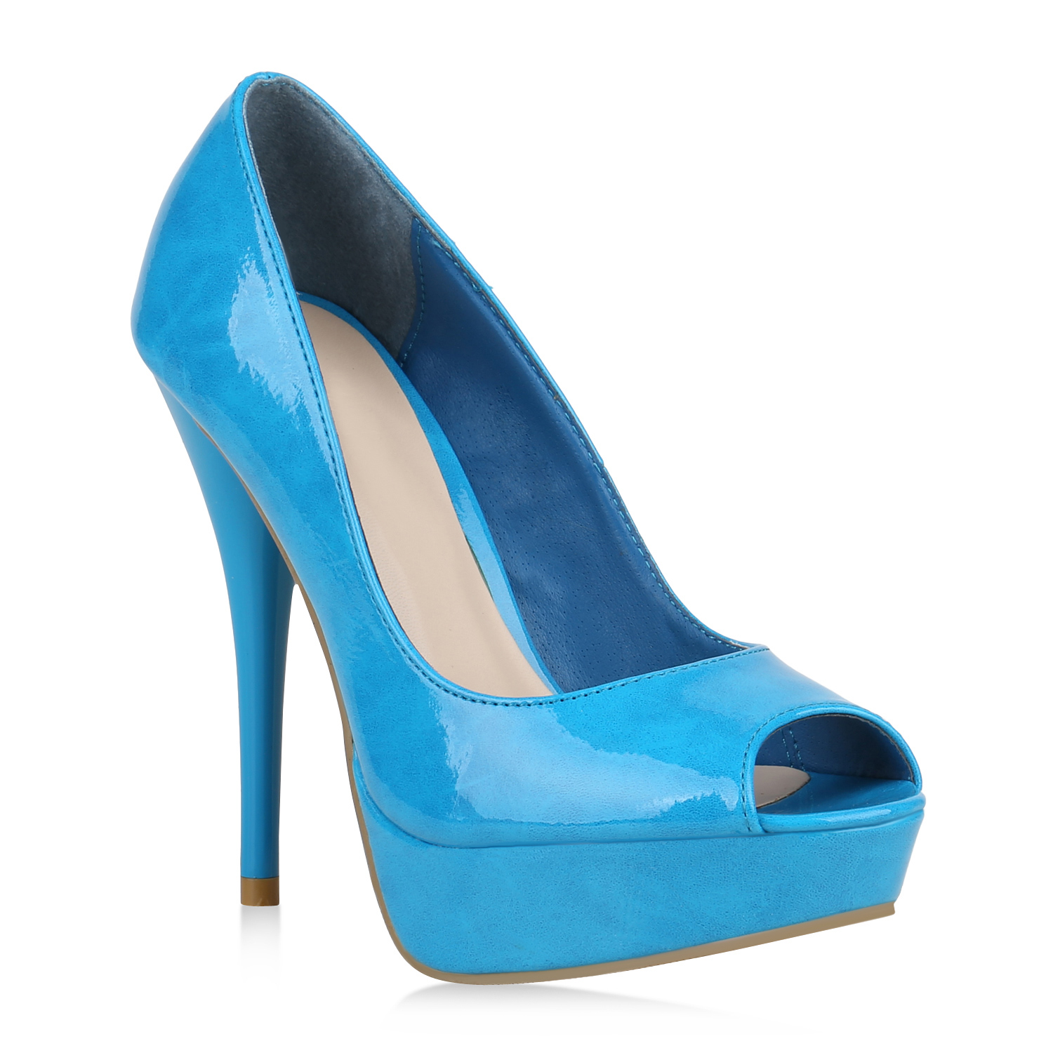 Damen Pumps Peeptoes - Hellblau