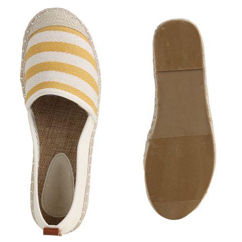 Gelb Espadrilles Slippers Gelb Slippers Espadrilles Damen Slippers Damen Damen fx0qInwv1