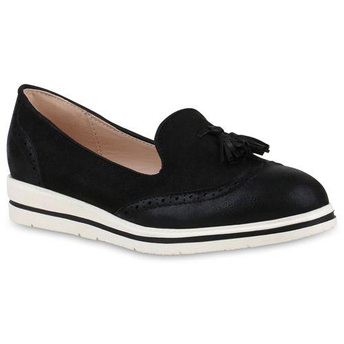 Damen Loafers Damen Schwarz Slippers Damen Schwarz Slippers Slippers Loafers wRw0q4IP