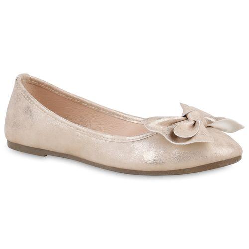 Damen Gold Klassische Klassische Klassische Damen Gold Ballerinas Ballerinas Damen qX5SRt