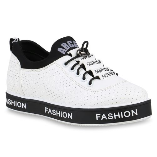 Plateau Sneaker Sneaker Weiß Weiß Sneaker Plateau Weiß Damen Damen Damen Plateau Damen Plateau Sneaker wAPZ6fq
