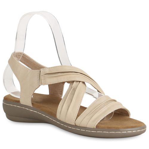 Sandaletten Damen Keilsandaletten Damen Sandaletten Keilsandaletten Creme Creme Damen Sandaletten 6xfwOFqpF