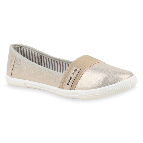 Gold Damen Damen Slip Slippers Slip Slippers Ons Gold Ons 5Fw8I