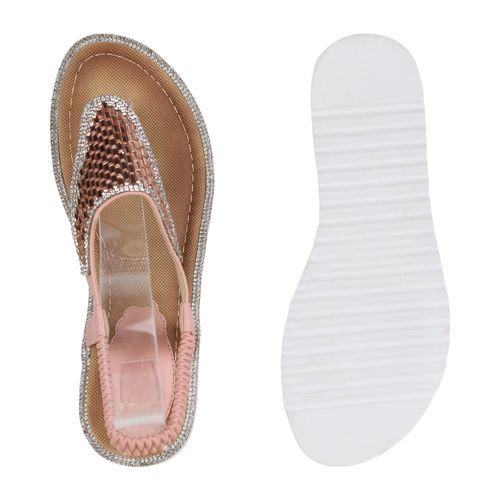 Sandaletten Damen Zehentrenner Sandaletten Damen Zehentrenner Rosa Rosa Damen Sandaletten nxcS7pZW