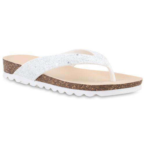 Sandalen Zehentrenner Damen Sandalen Weiß Zehentrenner Damen Damen Zehentrenner Weiß Sandalen PqpxX