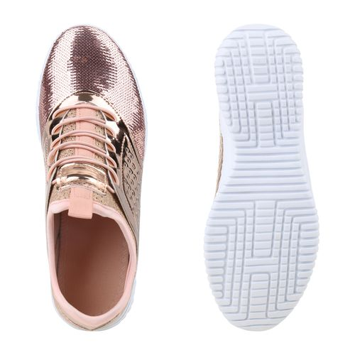 Damen Sportschuhe Slip Ons - Rose Gold