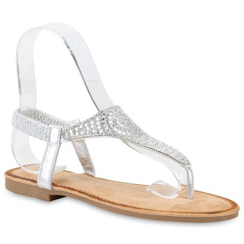 Damen Zehentrenner Silber Sandalen Silber Damen Zehentrenner Sandalen Sandalen Silber Damen Zehentrenner CxdoeB