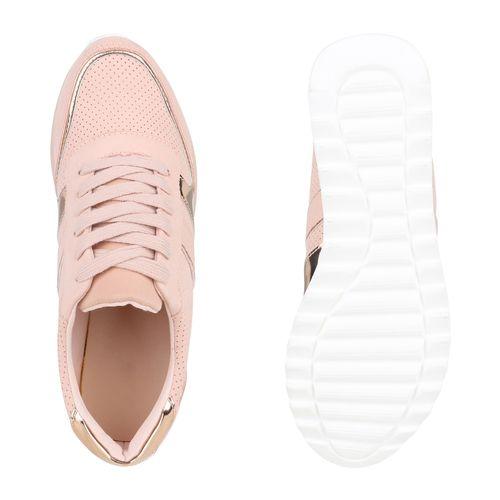 Rosa Plateau Sneaker Sneaker Damen Damen Rosa Damen Plateau qg0fB7