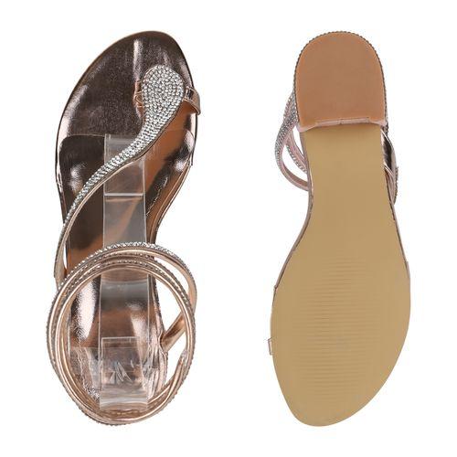 Damen Sandaletten Damen Zehentrenner Rose Sandaletten Zehentrenner Rose Gold UUq6rnWcd