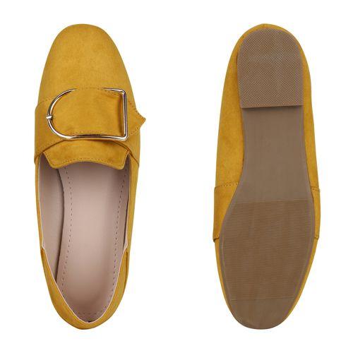 Damen Slippers Loafers - Gelb
