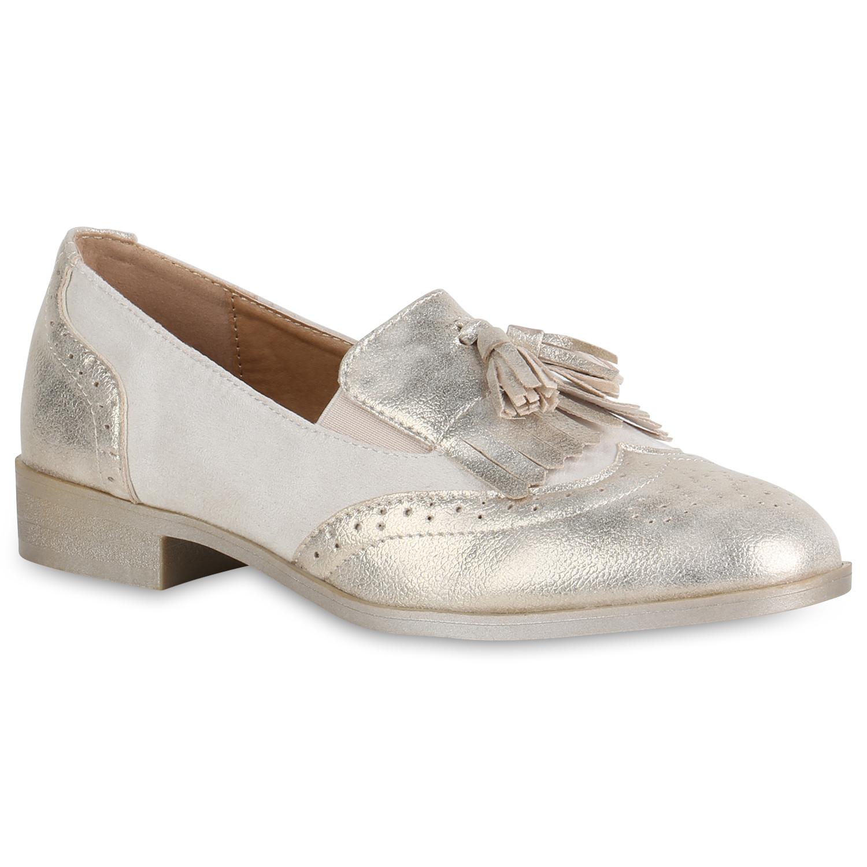 Damen Klassische Slippers - Gold