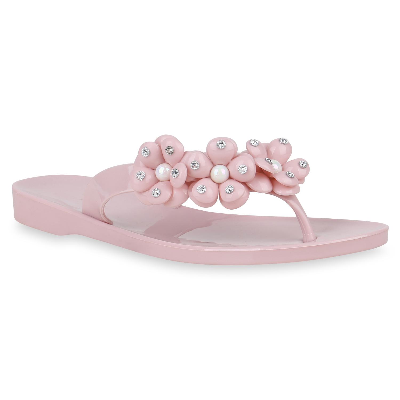 Damen Sandalen Zehentrenner - Rosa