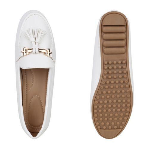 Damen Mokassins Slippers Damen Slippers Weiß Mokassins Weiß Damen Slippers FEqHxOWwa
