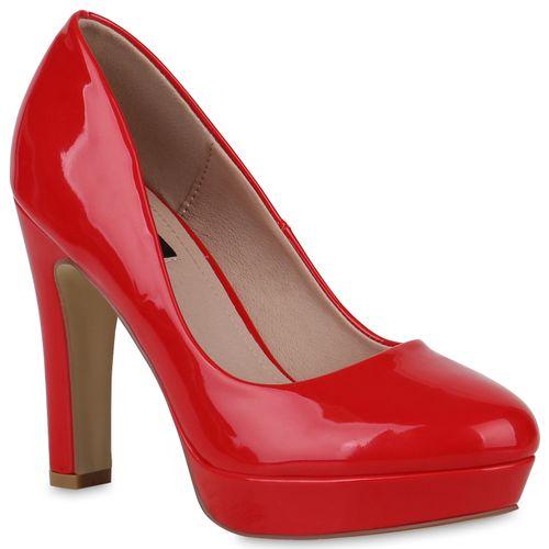 Damen Plateau Pumps - Rot