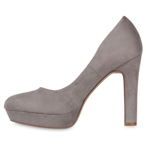 Damen Plateau Pumps - Grau