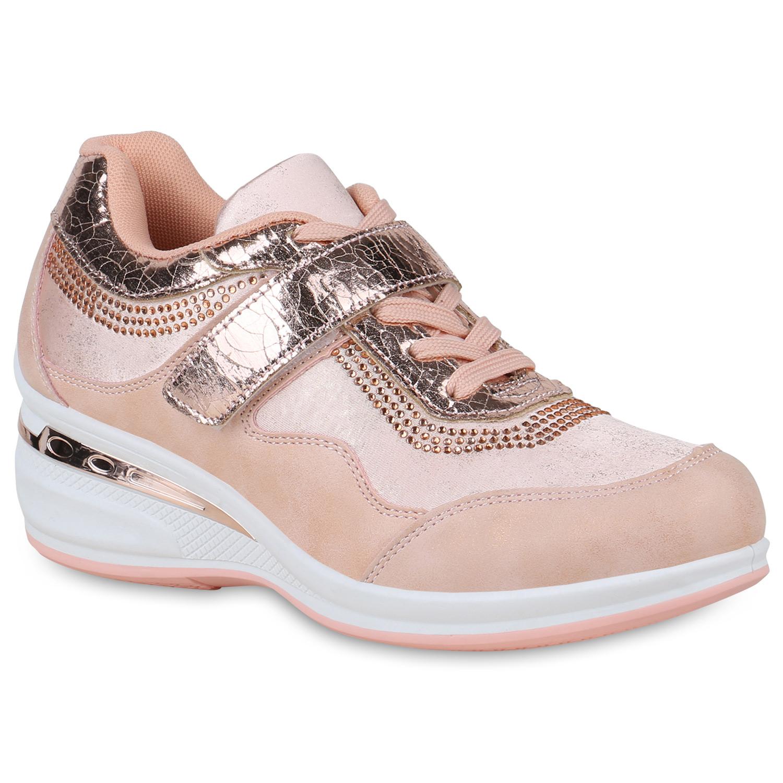 Damen Sneaker Wedges - Rosa