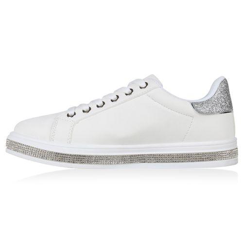 Damen Low Sneaker Weiß Damen Sneaker xBqPRrB0tn