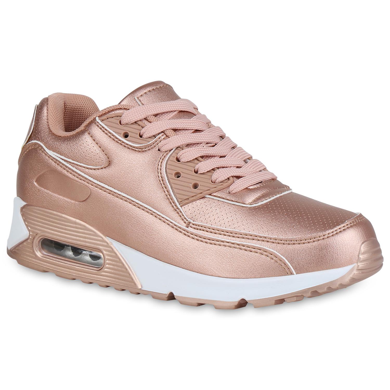 Sportschuhe - Damen Sportschuhe Laufschuhe Rose Gold › stiefelparadies.de  - Onlineshop Stiefelparadies