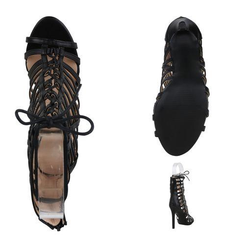 Damen Sandaletten Schaftsandaletten Damen Sandaletten Schaftsandaletten Schwarz Schwarz 1xwFq8Rnt