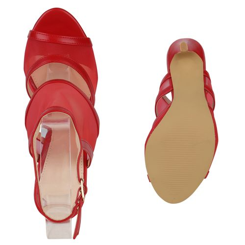 Damen Riemchensandaletten Sandaletten Rot Damen Sandaletten OwqrZxfO
