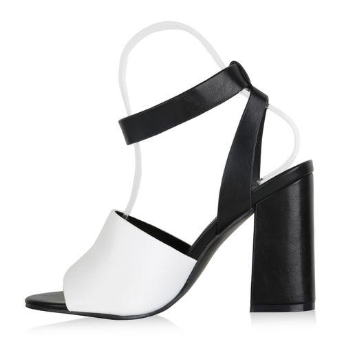 Damen Sandaletten Riemchensandaletten - Weiß