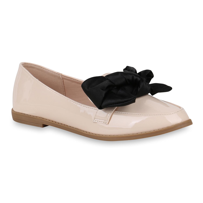 Damen Slippers Loafers - Nude