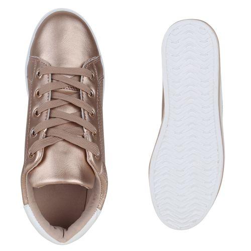 Plateau Damen Plateau Sneaker Damen Gold Rose Gold Rose Sneaker wEtqAxXn