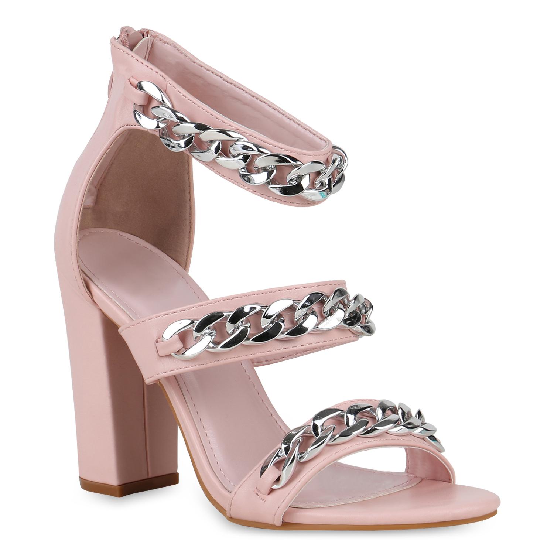 Damen Sandaletten Riemchensandaletten - Rosa