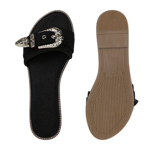 Damen Schwarz Sandalen Pantoletten Sandalen Pantoletten Pantoletten Sandalen Damen Schwarz Damen 7Ar7aq
