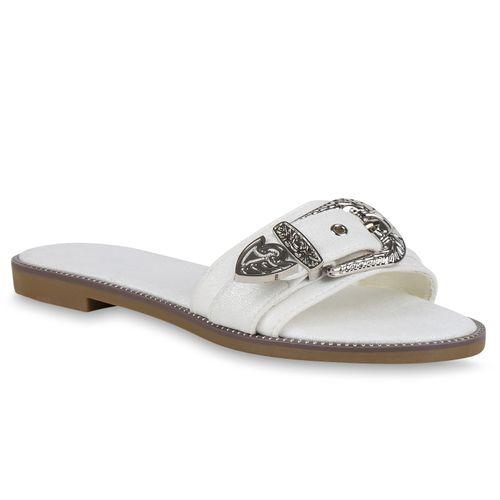 Damen Weiß Weiß Weiß Pantoletten Sandalen Damen Sandalen Damen Pantoletten Pantoletten Sandalen fFwIxA5Tq