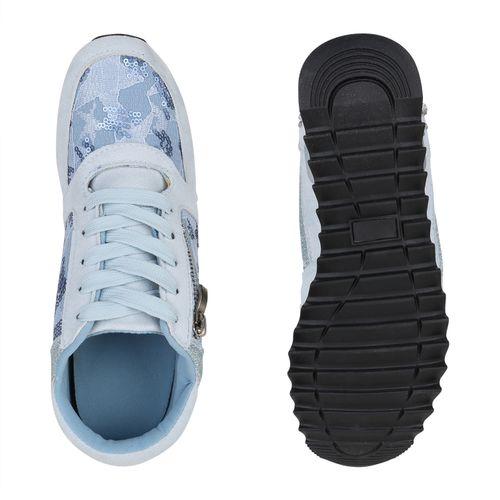 Hellblau Sneaker Wedges Damen Sneaker Wedges Hellblau Damen 5HPUqq