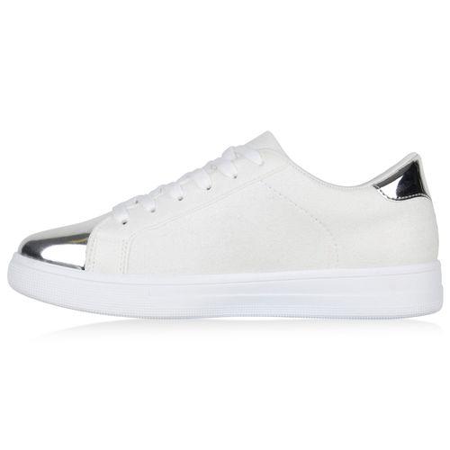 Damen Weiß Low Sneaker Sneaker Damen Creme XpqXw6r