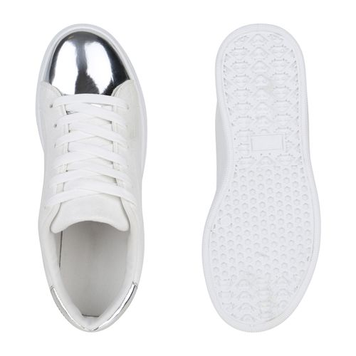 Low Sneaker Sneaker Damen Low Damen Sneaker Creme Weiß Damen Weiß Creme 7qW4A