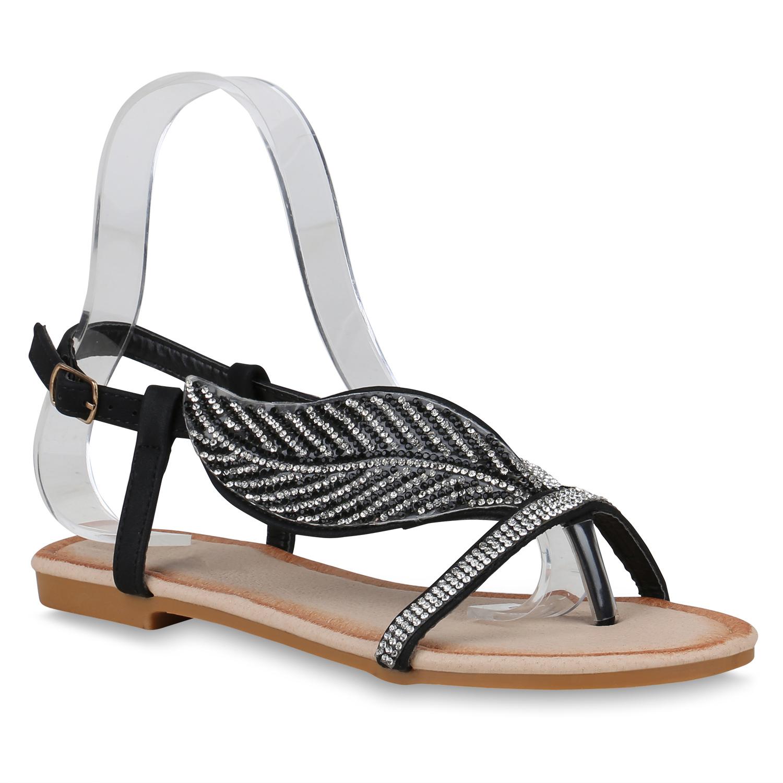 damen sandalen in schwarz 822858 3401. Black Bedroom Furniture Sets. Home Design Ideas