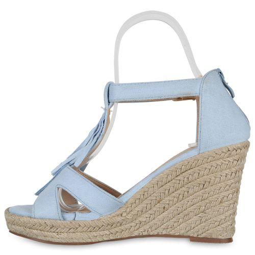 Sandaletten Hellblau Damen Damen Sandaletten Keilsandaletten Keilsandaletten 8qOxwt