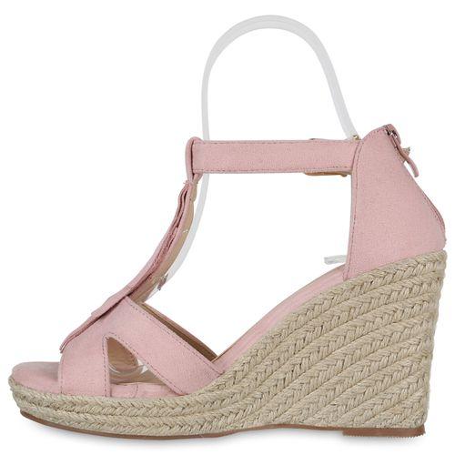 Damen Sandaletten Keilsandaletten - Rosa