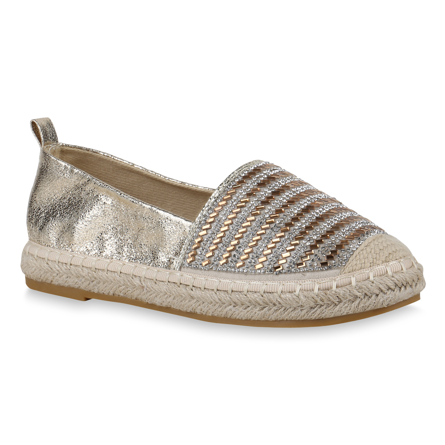 Damen Slippers Espadrilles - Gold