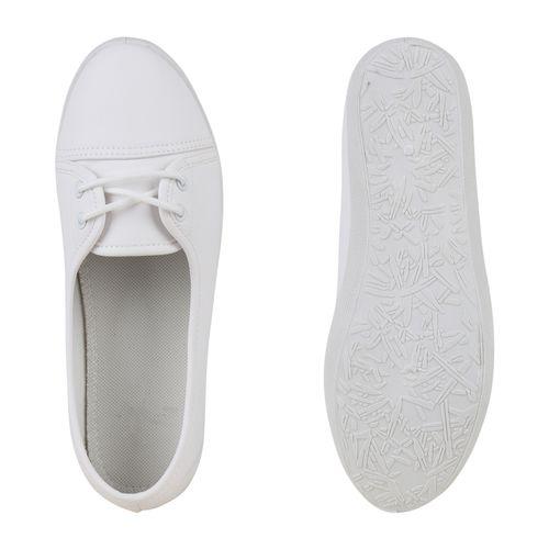 Damen Sportliche Ballerinas - Weiß