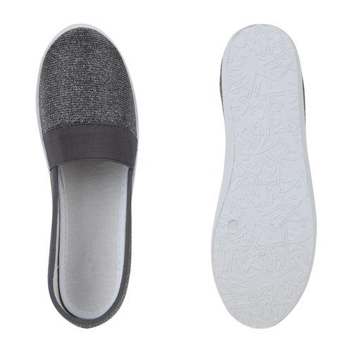 Slippers Slippers Ons Dunkelgrau Damen Damen Slip Ons Dunkelgrau Slip Damen RSHBI