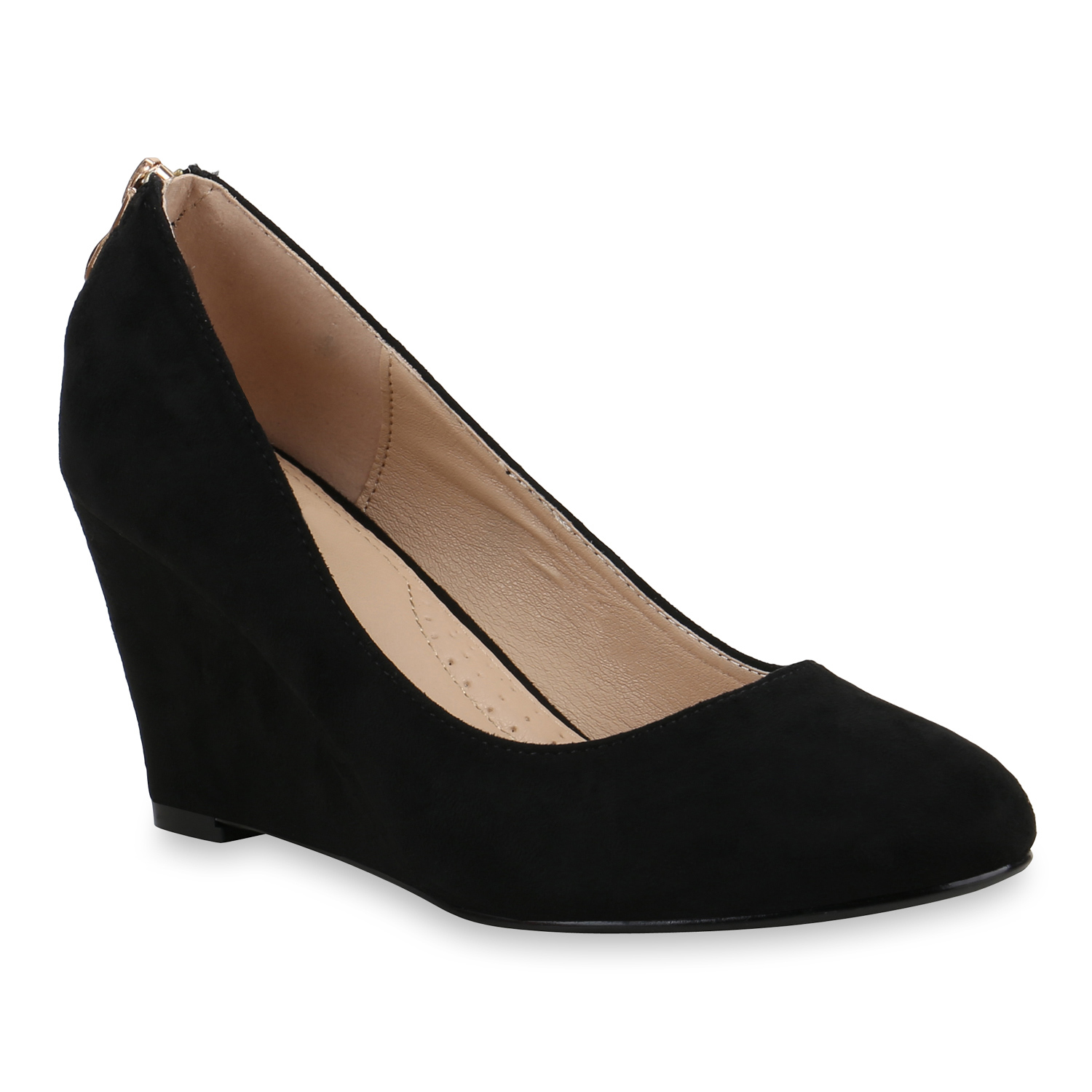 Damen Pumps Keilpumps - Schwarz