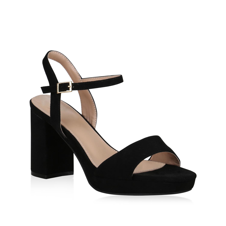 823087 Details Sommer Damen Sandaletten Heels Schuhe High Plateau Blockabsatz Zu D2HIEYW9
