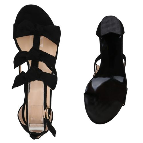 Sandaletten Damen Damen Schwarz Riemchensandaletten Sandaletten x7qznUEw