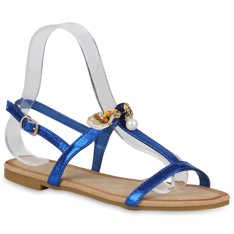 Damen Sandalen Riemchensandalen - Blau