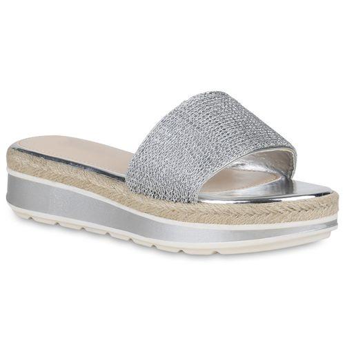 Pantoletten Damen Pantoletten Damen Silber Sandaletten Silber Sandaletten Pantoletten Sandaletten Silber Damen OnITAwx1