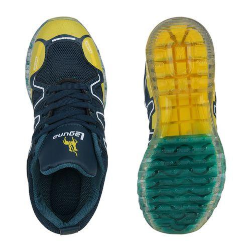 Damen Sportschuhe Laufschuhe - Dunkelgrün Gelb