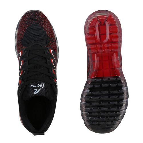 Herren Sportschuhe Laufschuhe - Schwarz Rot Weiß