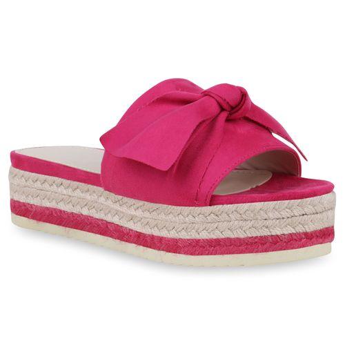 Damen Sandaletten Pantoletten - Pink