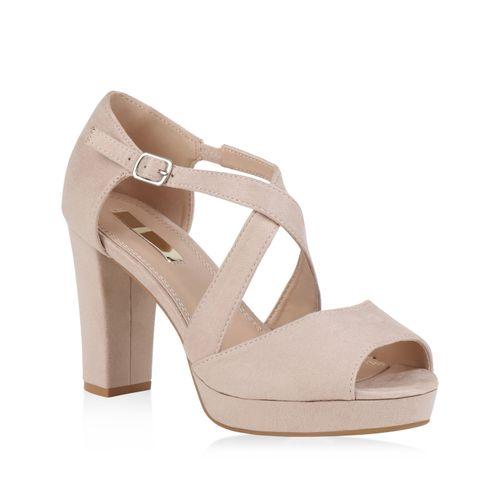 Damen Damen Riemchensandaletten Sandaletten Riemchensandaletten Damen Creme Sandaletten Sandaletten Creme x7X14cBq